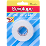 SELLOTAPE PERMANENT DOUBLE SIDED FOAM MOUNTING TAPE 12MM X 2M