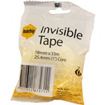 TAPE INVISIBLEMENDING 18MM X 33M 254MM CORE 7014846