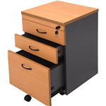 RAPID WORKER MOBILE PEDESTAL 3 DRAWERS 690 X 465 X 447MM BEECHIRONSTONE