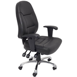 INITIATIVE EXECUTIVE CHAIR HIGH BACK ARMS PU BLACK