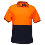 PRIME MOVER MP110 TWO TONED MICRO MESH POLO SHIRT