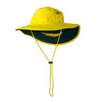PRIME MOVER MC601 HI VIS HAT COTTON WIDE BRIM