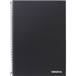 INITIATIVE PREMIUM SPIRAL NOTEBOOK WITH PP COVER AND POCKET SIDEBOUND A4 240 PAGE