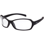 BOLLE SAFETY HURRICANE SAFETY GLASSES BLACK FRAME CLEAR LENS