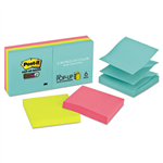 POSTIT R3306SSMIA SUPER STICKY POP UP NOTES MIAMI 76 X 76MM 90 SHEETS PACK 6