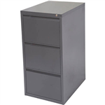 INITIATIVE FILING CABINET 3 DRAWER 475 X 600 X 1020MM GRAPHITE RIPPLE