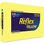 REFLEX COLOURS A4 COPY PAPER 80GSM YELLOW PACK 500 SHEETS