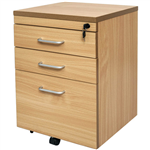 RAPID SPAN MOBILE PEDESTAL 3 DRAWER 690 X 465 X 447MM BEECH