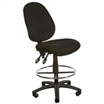 YS DESIGN DRAFTING CHAIR HIGH BACK BLACK