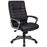 CAPRI EXECUTIVE CHAIR HIGH BACK ARMS PU BLACK
