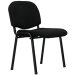 APOLLO VISITOR CHAIR MEDIUM BACK BLACK