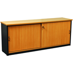 OXLEY CREDENZA 1200 X 450 X 730MM BEECHIRONSTONE
