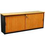 OXLEY CREDENZA 1800 X 450 X 730MM BEECHIRONSTONE