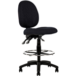 LINCOLN DRAFTING CHAIR MEDIUM BACK BLACK