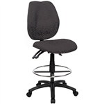 SABINA DRAFTING CHAIR HIGH BACK BLACK