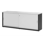 OXLEY CREDENZA 1800 X 450 X 730MM WHITEIRONSTONE