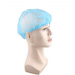 CRIMPED HAIR NET CAPS 21 INCH BLUE BX1000